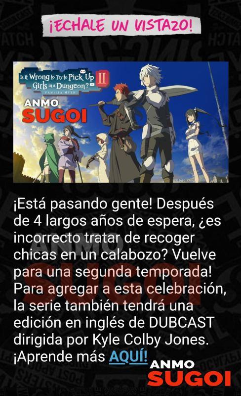 "Es oficial: ""Danmachi 2"" Llega a Latinoamérica"