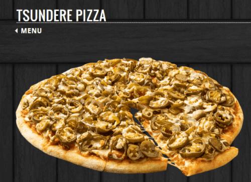 La pizza Tsundere invade Japón