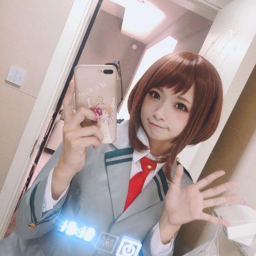 Japonesa hace un adorable cosplay de Ochaco Uraraka de Boku no Hero Academia