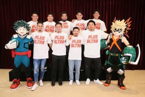 Boku no Hero Academia: Jugadores profesionales de rugby patrocinan la película Heroes: Rising