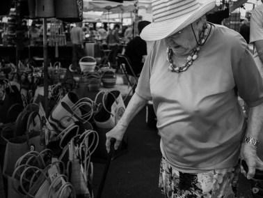 Local market shopping lady