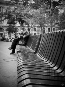 Reading break on the bench