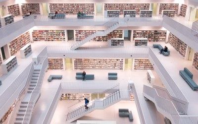 Books and stairs: Interior architecture photographs