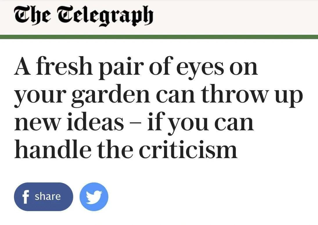 Garden designer Ann-Marie Powell's garden advice for Telegraph Journalist