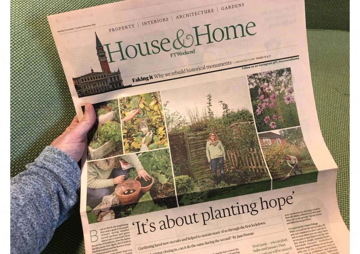 Financial Times weekend It's about planting Hope says Ann-Marie Powell