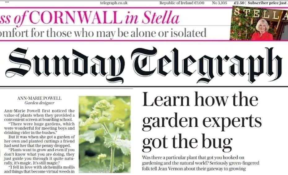 Sunday Telegraph gateway Plants with Ann-Marie Powell