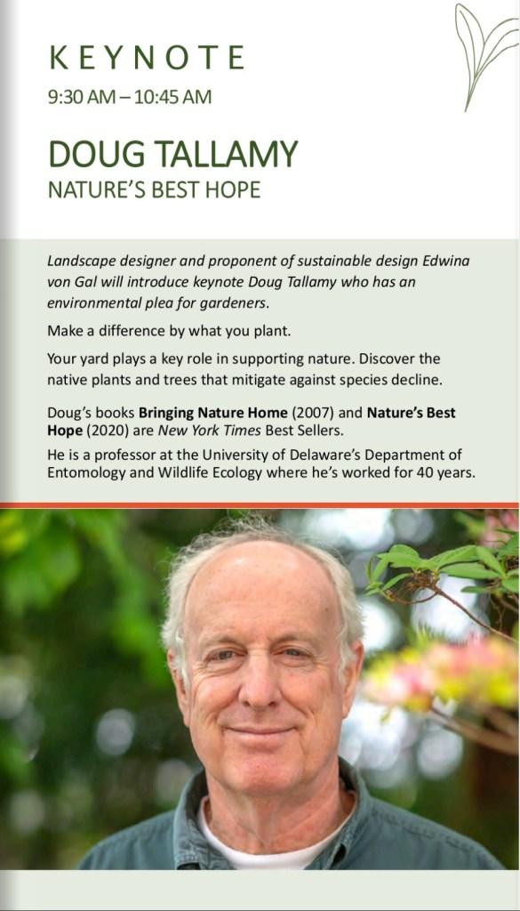 Doug Tallamy key note speaker Suffolk County Spring Gardening School