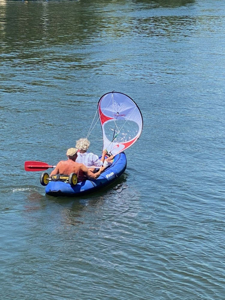 A novel way to get down the river
