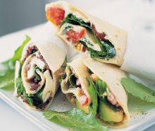 Caramelised Onion & Mozzarella Tortilla Wraps