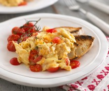 Scrambled Eggs with Tomato & Onion
