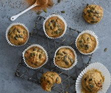 Spiced Courgette, Pumpkin Seed & Chia Seed Muffin
