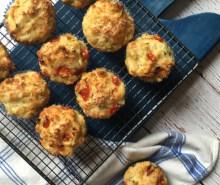 Cheese & Cherry Tomato Muffins