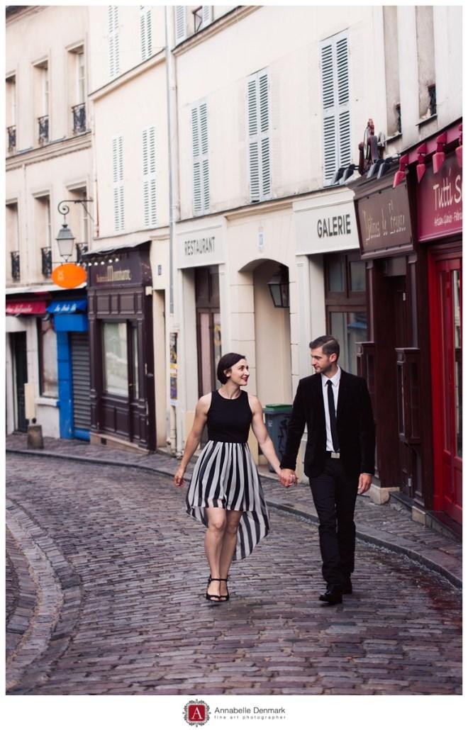 an alley in Montmartre, full of little shops