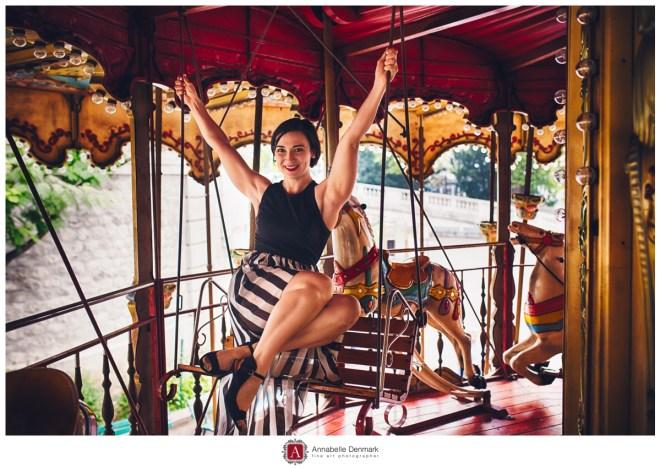 Fallon on the carousel