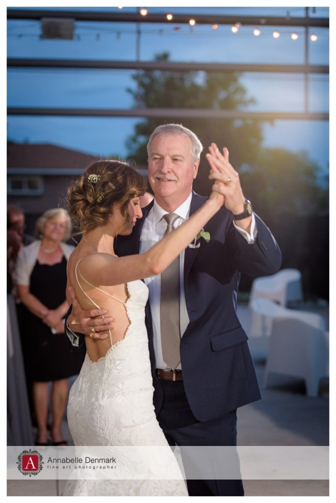 Lyndsey dances with her dad