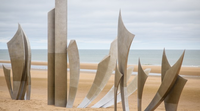 Omaha Beach and the family home