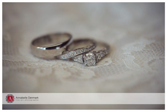 the wedding bands on lace