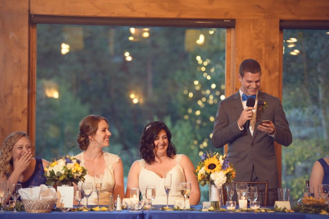 Bride's bother toast