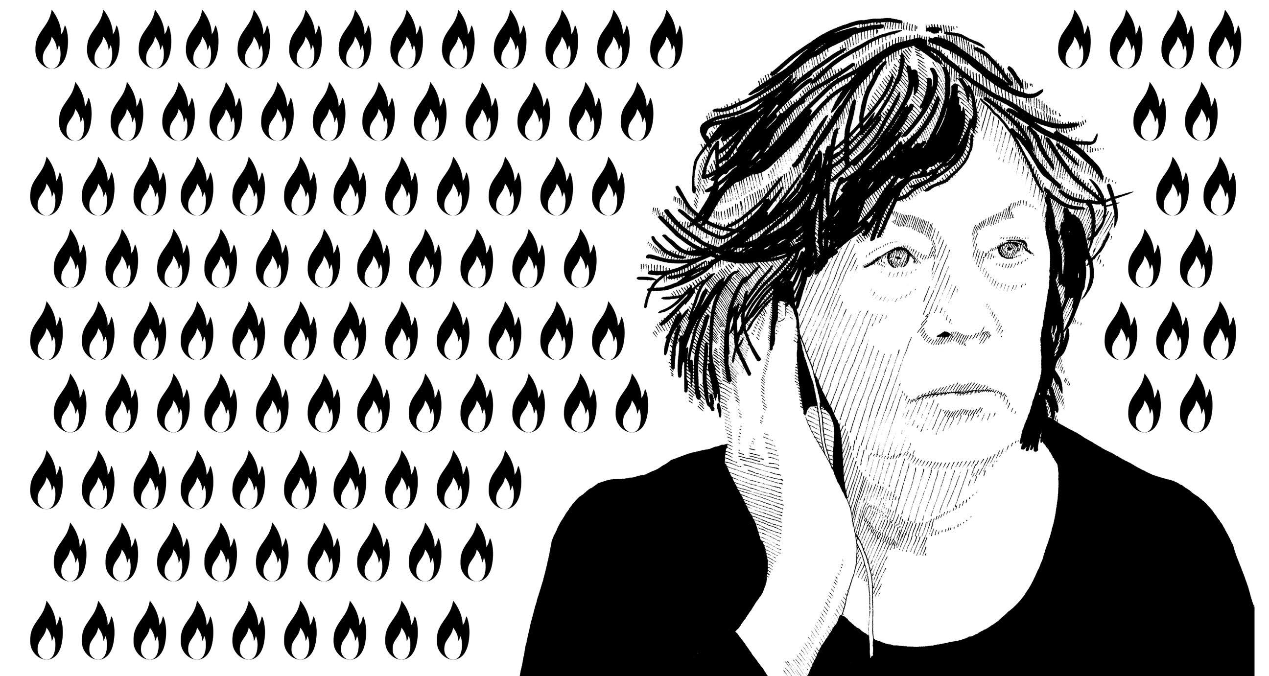 Laura Mulvey illustration
