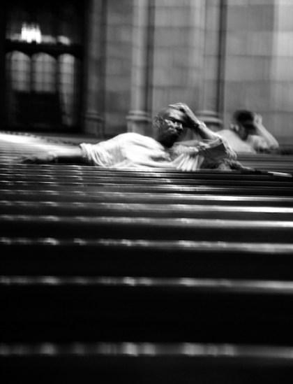 Homeless Men in NY Church