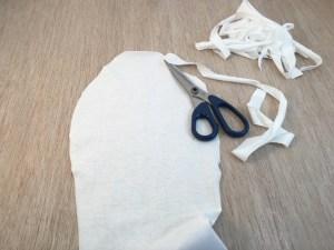 ricaviamo le strisce per l'allacciatura
