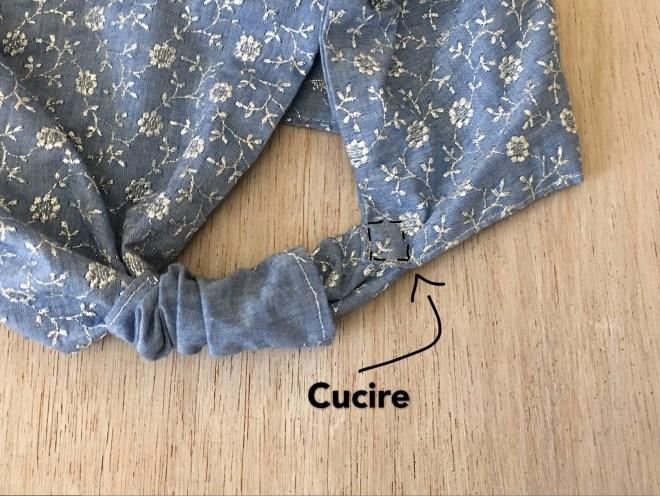 cucire il manico