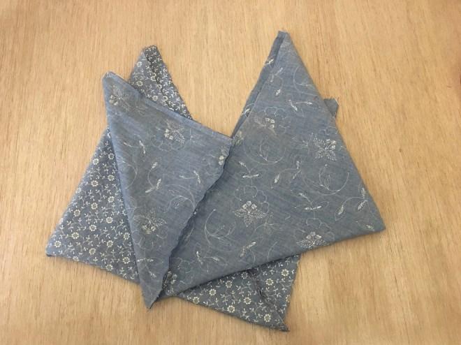 realizzare con l'altro tessuto un'altra origami bag