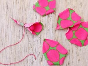assemblaggio dei petali