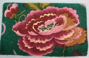 Coir Doormat - Chinese Peony