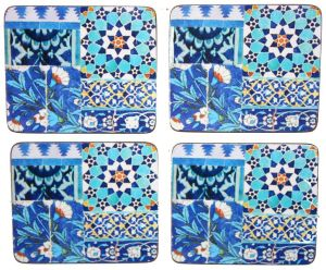 Coaster Set - Blue Tile