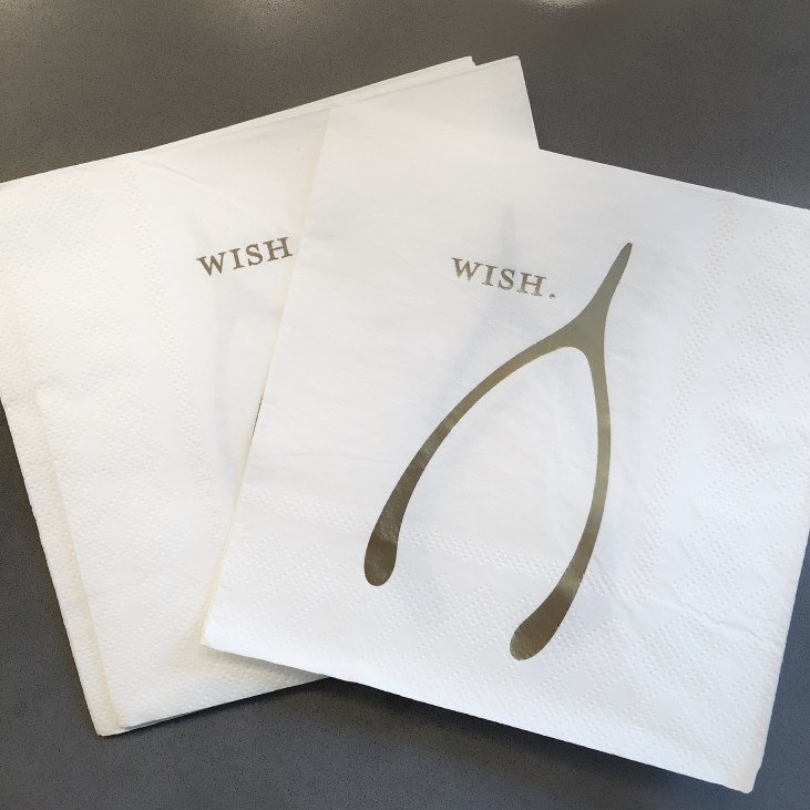 accomplish minimalist fall decor with these wishbone cocktail napkins