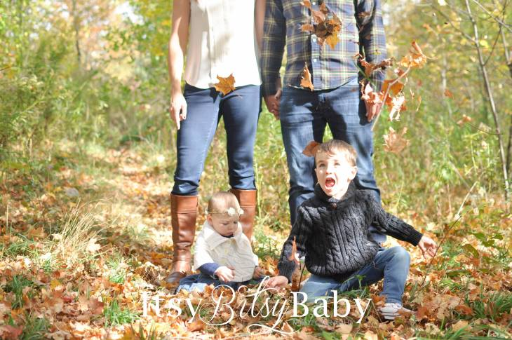 A Fall Family Photoshoot with Itsy Bitsy Baby Photography