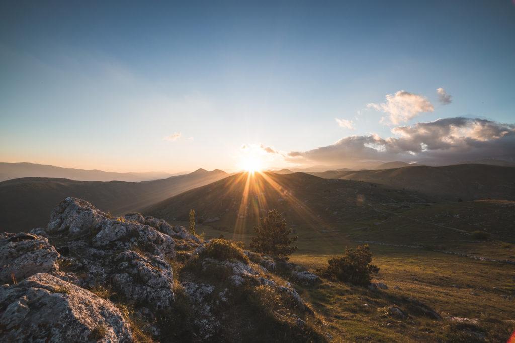 Veduta unica, al tramonto | Parco nazionale del gran Sasso e dei Monti della laga