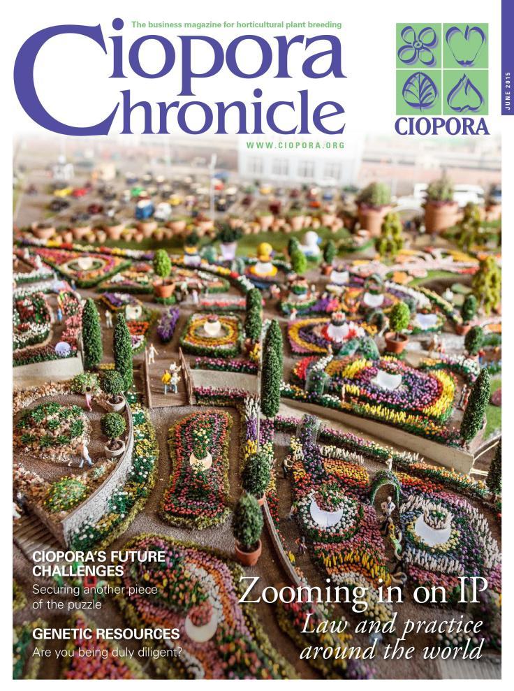 CIOPORA Chronicle 2015 - B2B magazine