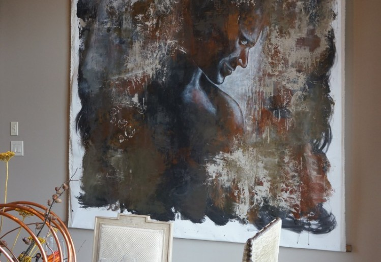 Custom original painting on canvas by Annalee Bohon of Annalee B Studios