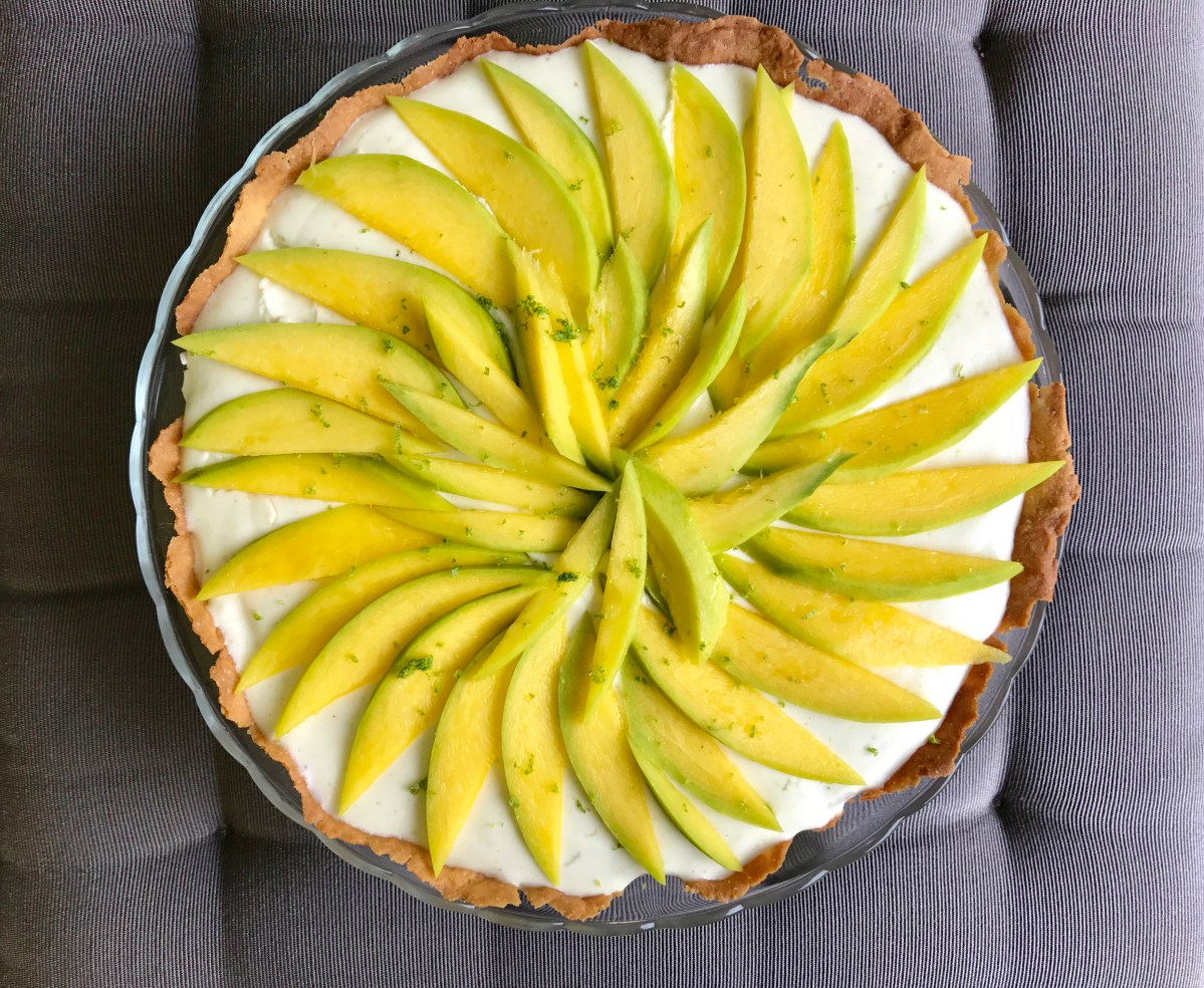 Healthy Mango, Yogurt & Lime Tarte