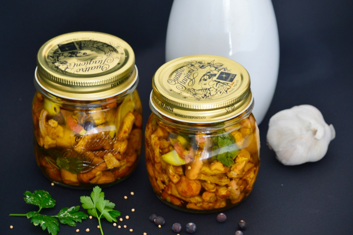Pickled Chanterelle Mushrooms for Fall
