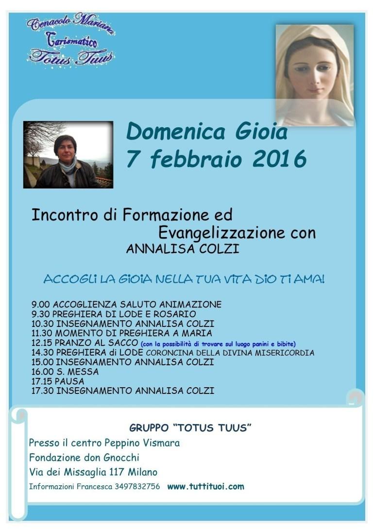 Annalisa Colzi Totus Tuus 2016