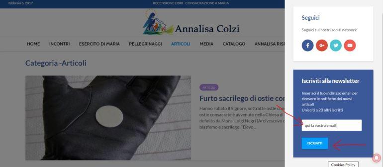 newsletter annalisa colzi