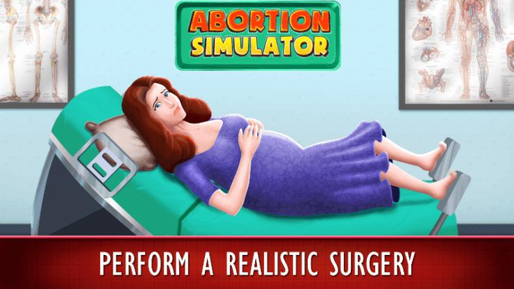 l'app abortion simulator per uccidere bambini tramite l'aborto