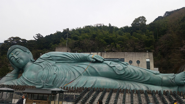 Reclining great Buddha at Nanzoin Temple, Japan