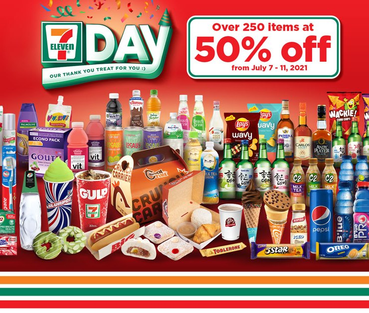 Up to 50% off on #7Eleven Day from July 7 to 11