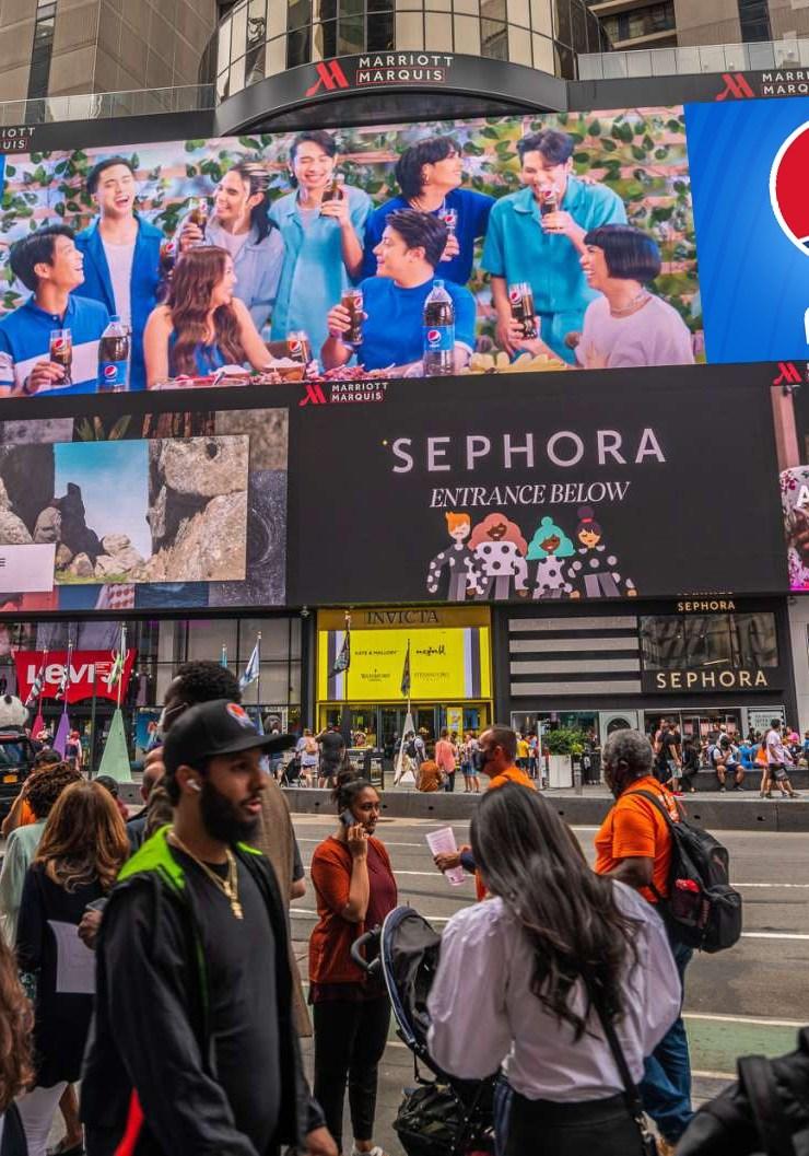 Local celebs in Pepsi's Hit Sa Sarap campaign seen on NY & LA billboards