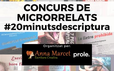 BASES DEL CONCURS DE MICRORRELATS  #20minutsdescriptura