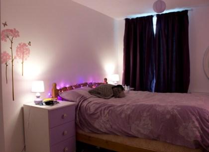 My purple bedroom