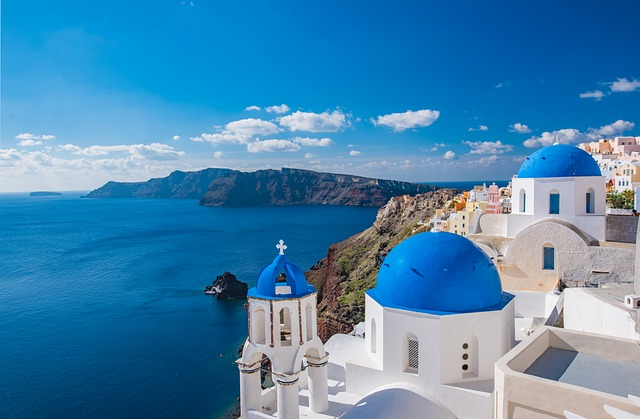 free holiday to Santorini