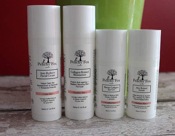 Peach Fox skincare products