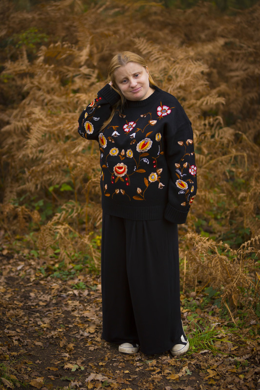 New Look black floral embroidered jumper