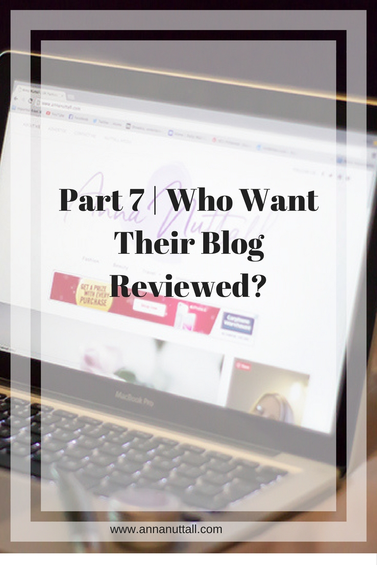 Part 7 blog reviewed