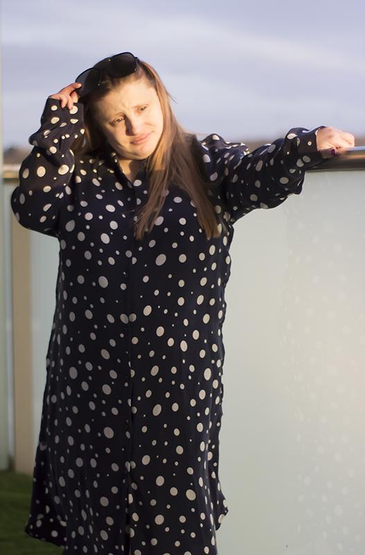Zara polka dots shirt dress